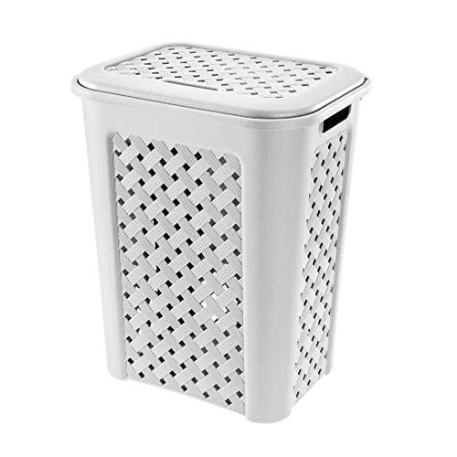Tontarelli Cesto para Ropa Arianna 30 litros Modelo Blanco, 37.5 x 27.5 x 47 cm
