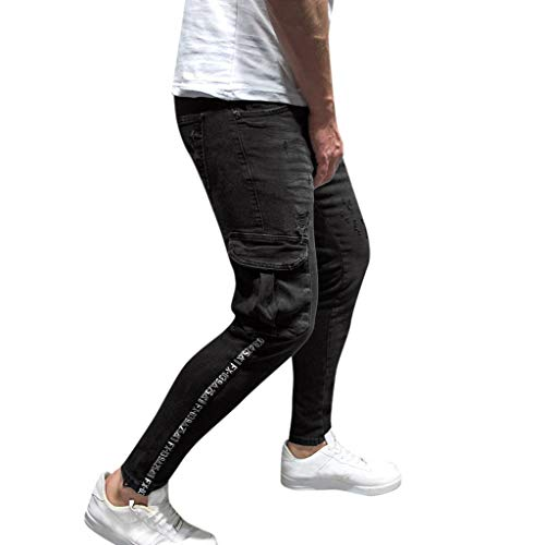 Minikimi heren broek Cargo Chino jeans stretch jogger sportbroek slim-Fit joggingbroek met zakken, joggers, sportbroek