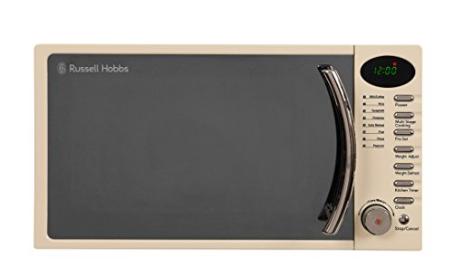 Russell Hobbs RHM1714CC 17 L 700 W Cream Digital Solo Microwave with 5 Power Levels, Digital Clock and Timer, 8 Auto Cook Menus, Automatic Defrost, Easy Clean