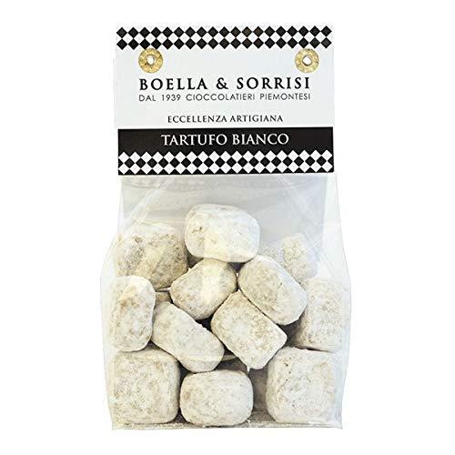 Boella & Sorrisi Weiße Tartufo Bianco Pralinen, weiße Schokoladentrüffel, Delikatessen Geschenk, 200 g