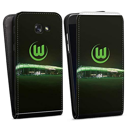DeinDesign Flip Case kompatibel mit Samsung Galaxy A5 (2017) Tasche Hülle Offizielles Lizenzprodukt VFL Wolfsburg Stadion