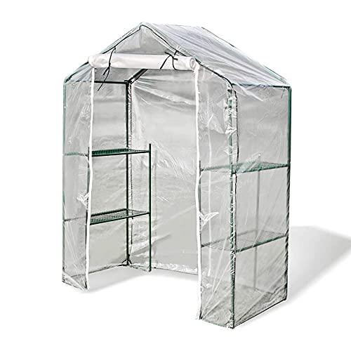 LIXHZJ Plant Greenhouse Walk in Greenhouse, Three Layer Accessible Anti Freezing Dust Proof, Warming Moisturizing, 7 Wire High Light Transmitting Membrane Balcony Garden*Product No.:WW-32