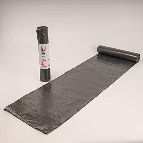 EL CARMEN Bolsa para Basura Doméstica, Gris Oscuro, 85 x 105 cm, 10