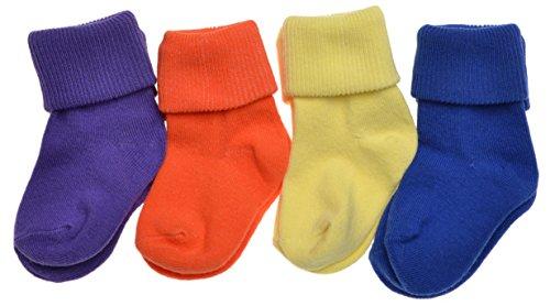 WB Socks 4 Paar Babysocken, müheloshelle Farben - Umrollungssocken