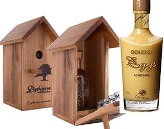 1 Vogelhäuschen  4 Gläser  1 Flasche Debowa Golden Cream Eierlikör a 0,7L Souvenierset Geschenk