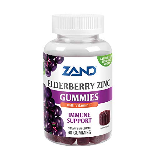 Zand Elderberry Zinc Immunity Gummies with Vitamin C | Year-Round Immune Support for Children & Adults | 60ct, 30 Serv.