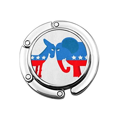 Borsa Appendiabiti Asino Elefante Simboli Partiti politici America Usa Elezioni Democratici contro repubblicani Gancio per borsa