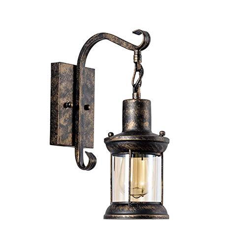ZTKBG Lámpara de Pared Antigua de Loft, lámpara de Noche Retra iluminación de Pared, Estilo de Pared de Hierro de Estilo Europeo para Dormitorio, Sala de Estar, baño (Color : Bronze)
