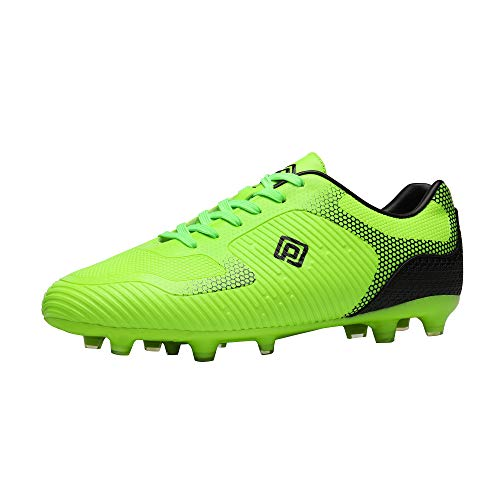 DREAM PAIRS Men's Superflight-2 Black Firm Ground Soccer Cleats Soccer Shoes, Neon Green, Size 10.5