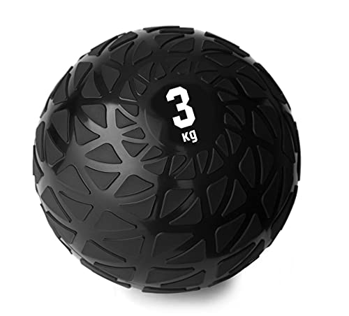 La-VIE(ラヴィ) メディシンボール 3kg トレーニング 体幹 筋トレ 有酸素運動 ウェイト ボール 重り ダンベル 3B-3435 ブラック