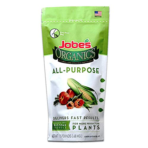 Jobe's Organics 09521 All Purpose Fertilizer with Biozome, 4-4-4 Organic