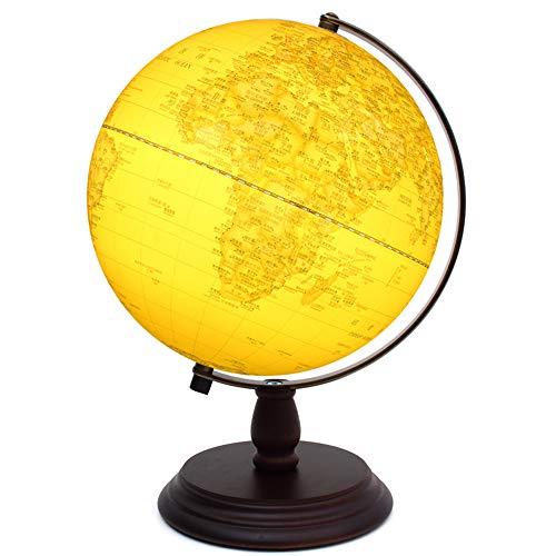 20 Cm 3 dimensiones de relieve Globe Hd Archaize para restaurar antiguas formas Estudiantes Artículos especiales de equipamiento de estudio 25 Cm alto 32cm con lámpara de luz Globo con sombreado antig