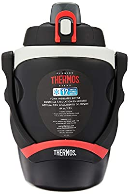 Thermos Hydration Bottle, 64 oz, Black