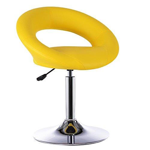 Tabouret de bar européen, élégant tabouret de bar simple, tabouret haut, chaise de levage avant, fauteuil de bar rotatif, tabouret de bar (Couleur : Le jaune)