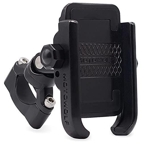 GOURIXIN Soporte para teléfono para Bicicleta y Motocicleta, Soporte Universal para teléfono para Bicicleta de Carretera/Motocicleta, rotación de 360 °, teléfonos Inteligentes de 4'- 6,6' Black