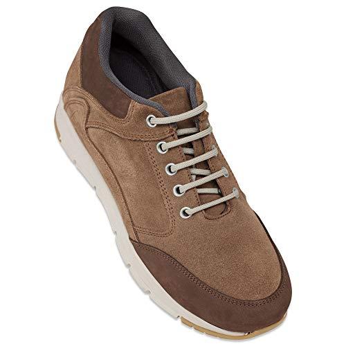 Zapatos de Hombre con Alzas Que Aumentan Altura hasta 7 cm. Fabricados en Piel. Modelo Berna Marron 41
