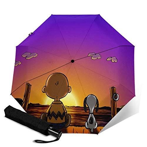 phurlie arqwn und snqpy Automatischer Dreifach Faltschirm Sonnenschutz Regenschirm Wasserdicht Reise bedruckt Tragbarer Regenschirm