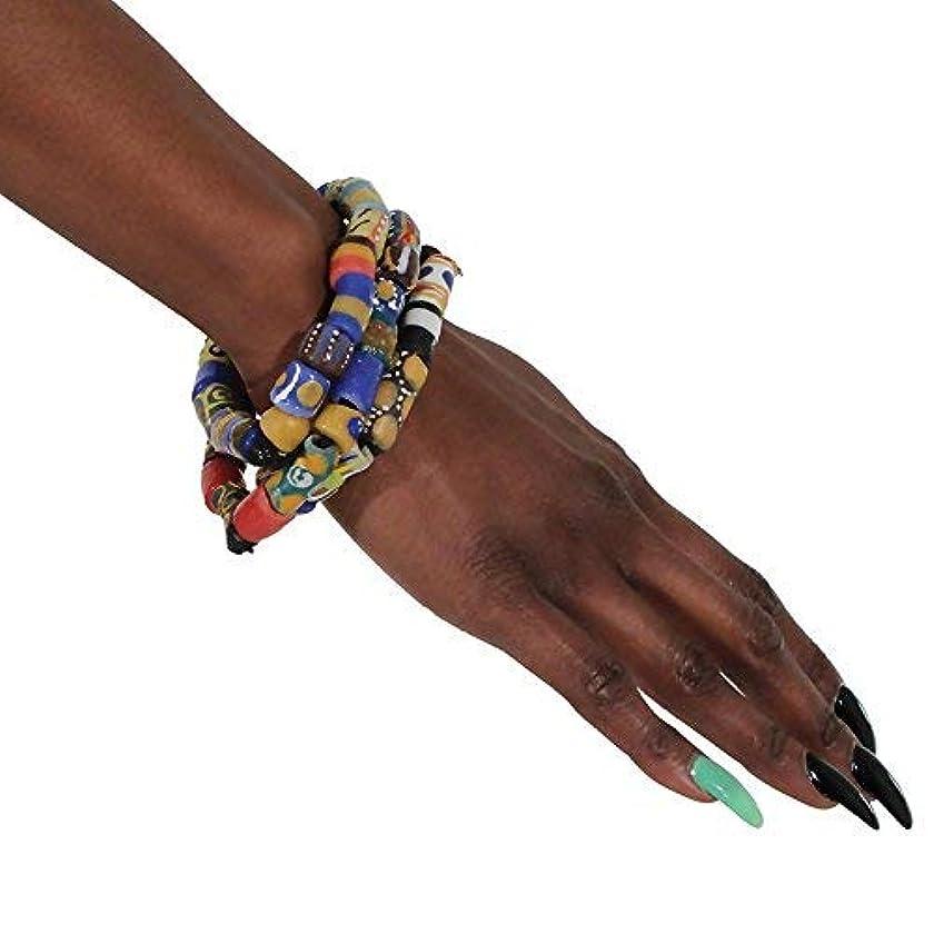 Ghana Trade Bead Bracelet (Pack of 3)