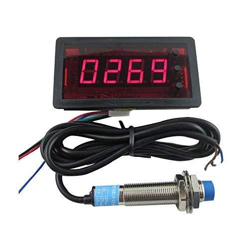 digiten DC12V 4digit rot LED Zähler mit Relais Ausgang + Näherungsschalter Sensor NPN