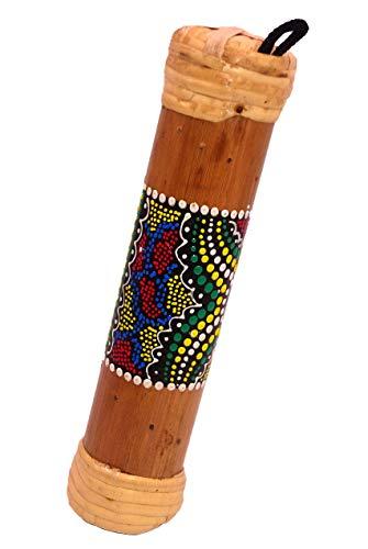 Palo de lluvia de bambú tradicional de 19 cm, artesanal, pintado relaxación