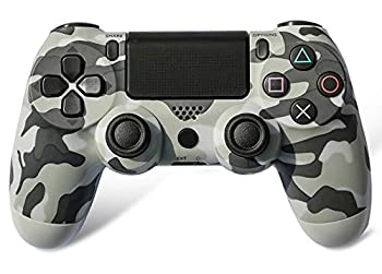 Wireless Controller Compatible with Playstation 4 Console Ps4 Controller  Gray Camo