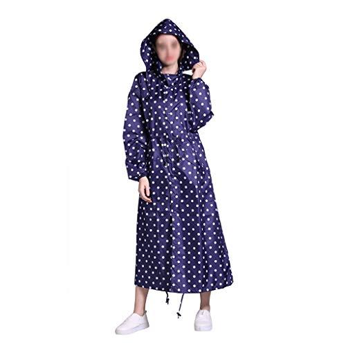 YWSZJ Nuevas Mujeres livianas Transpirables Impermeables Moda Impermeable alargar Capa Lluvia Adultos al Aire Libre a Prueba de Viento Hombres Chaqueta Lluvia (Color : Blue, Size : X-Large)