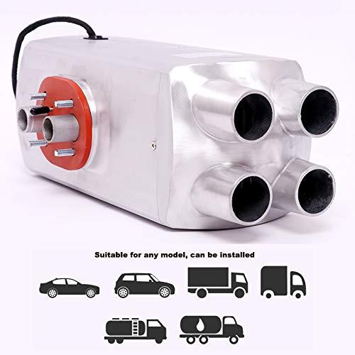 Luft-Diesel-Kraftstoff-Heizung, 24 V, 5000 W, für Auto, LKW, Boote, Bus, Wohnmobile, Wohnmobile, Wohnmobile, Wohnmobile, Parkgeschwindigkeit, Heißer LCD-Monitor, Silbermetall