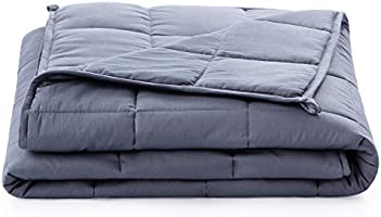 Linenspa 15 Pound Weighted Blanket – All Natural Relief and Sleep Aid - Filled with Premium Glass Beads - Calming and...