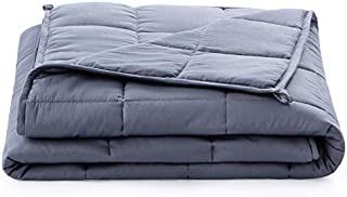 Linenspa15 PoundWeighted Blanket–All NaturalRelief and Sleep Aid- Filled with Premium Glass Beads - Calming and Soothing Hug
