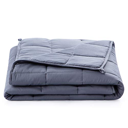 Linenspa20 PoundWeighted Blanket–All NaturalRelief and Sleep Aid- Filled with Premium Glass Beads - Calming and Soothing Hug