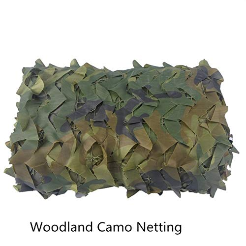 FKYNB Home Garden Gazebos Camouflage Nets Military Car Cover Camping Hunting Canopy Party Tents Sunshade Camo Netting (Color : Woodland, Size : 2Mx3M)