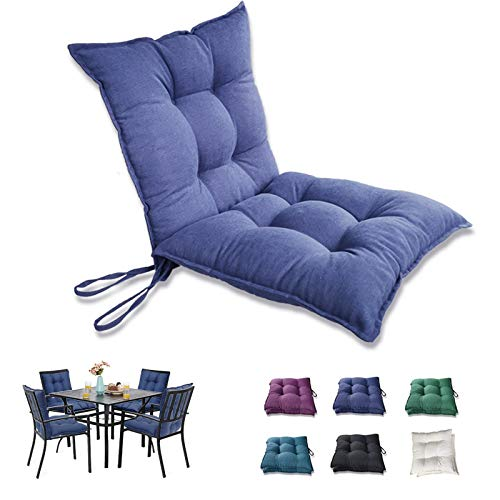 INRLKIT Patio Cushions Outdoor Chair Seat Pads 19x19x5 Inch WaterResistant Filled Pearl Cotton 2 Pieces Dark Blue