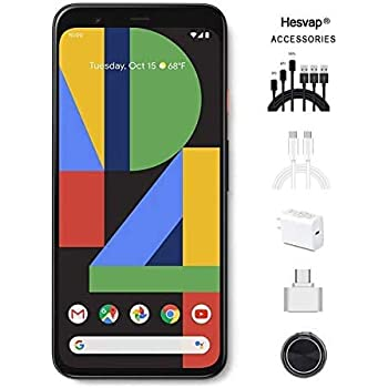 """Google Pixel 4XL 6.3"""" 64GB Unlocked Cell Phone Android Smartphone, AT&T/T-Mobile/Verizon, Clearly White, W/Valued 69.99 Mobile Phone 7in1 Accessories"""