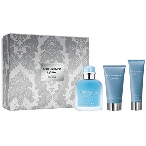 Dolce & Gabbana Light Blue Intense Homme Eau De Perfume Spray 100ml Set 3 Pieces 2019300289