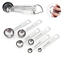 sweieoni 6 pezzi cucchiai dosatori set cucchiai dosatori in acciaio inox 18/8 measuring spoons per misurini cucchiai dosatore cucinare misurando liquidi solidi cucchiaio di misurazione