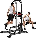 Byakns Torre de poder multifuncional de la fitness de la pierna doméstica o de la pata comercial, barra de push-up de la estación de inmersión |Inicio Gimnasio Entrenamiento Rack Fuerza Equipo de ejer