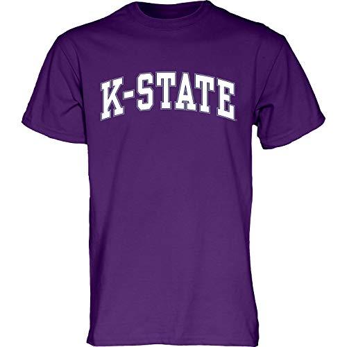 The Blue Brand Blue84 NCAA Kansas State Wildcats Herren T-Shirt Arching Team Name Kurzarm Kansas State Wildcats Lila, XXL