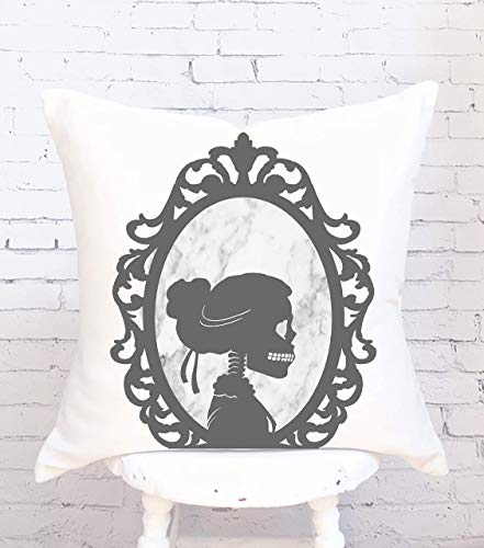N\A Halloween Pillow Cover Female Skull Silhouette Halloween Decorative Pillow