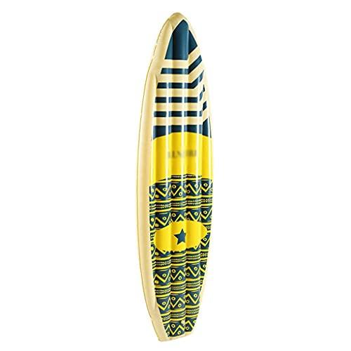 QIXIAOCYB Flotador Inflable de la Piscina de Surf, Impermeable Duradero y Suave, Piscina al Aire Libre Party Lounge Ride en balsa Flotante Inflable Cama Flotante Inflable (Color : Natural)