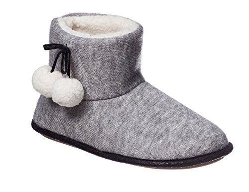 Hanes Womens Alba Indoor/Outdoor Bootie Slippers