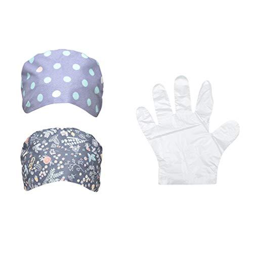 PRETYZOOM 2 Stück Medizinische Hüte Und 500 Stück Einweghandschuhe Verstellbar Krankenhaus Arbeiten Arzt Krankenschwester Hut für Frauen Männer