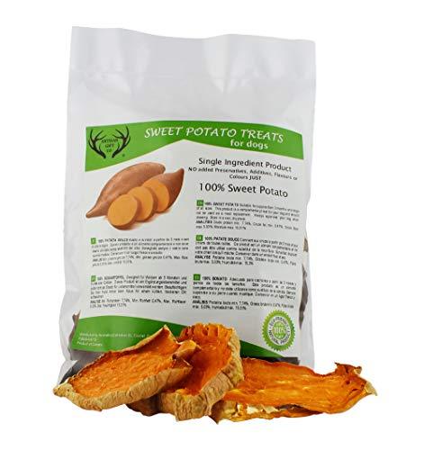 ARTISAN GIFT CO 100% Naturale Snack Vegano di Patate Dolci per Cani (Originale 250g)