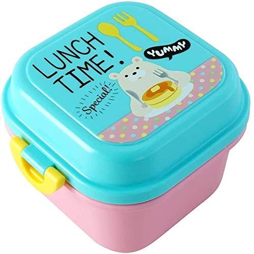 CHENCfanh Fiambrera La Caja de Almuerzo de los niños pequeños de Animales con la Fruta, portátiles Infantil Almuerzo rectángulo de la Fruta del Estudiante, Snack Food Bento Box, con Tapa Caja