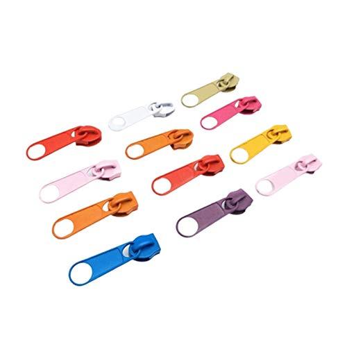 Simplicity 100PC multicolor 5# Nylon Zipper Slider Head Puller DIY Handwork Bag Luggage for DIY Craft Tailor Bag (Color : Random color)
