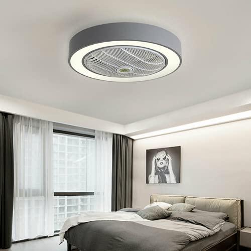 LED Licht Deckenleuchte + Fernbedienung 3 Farben Deckenleuchte Dimmbar Deckenventilator Leise 3 Einstellbare Windgeschwindigkeit Ventilator mit Beleuchtung für Wohnzimmer Schlafzimmer