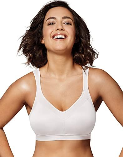 Playtex Women's 18 Hour Active Breathable Comfort Wireless Bra US4159, White, 42B