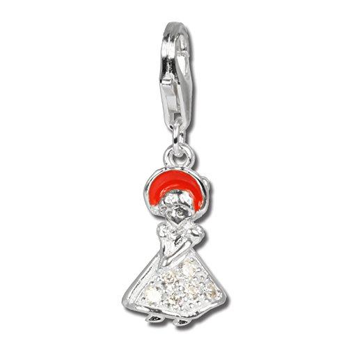 SilberDream 925Ciondolo in argento Sterling Ragazza Pendente per collana o braccialetto orecchino fc253W
