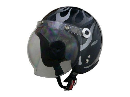 リード工業(LEAD) バイクヘルメット ジェット BARTON BC-10 ブラックフレア フリー (頭囲 57cm~60cm未満)