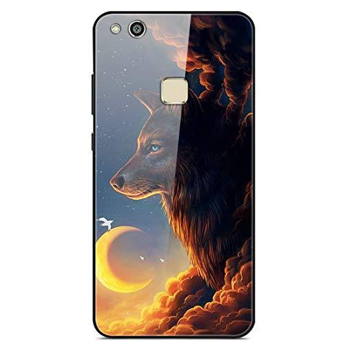 LTao-case YLBL Funda para Huawei P10 Lite Was-LX1 Was-LX2 Was-LX3 WAS-LX1A Funda Cristal Templado + Marco de Silicona 5