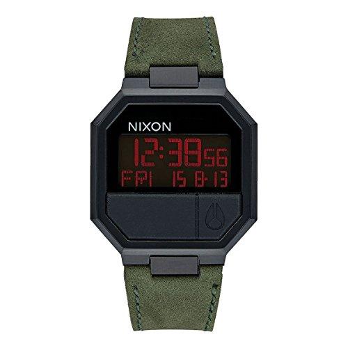 Nixon Unisex Re-Run Leather All Black/Green One Size